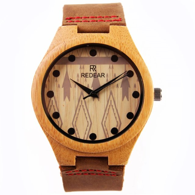 Lovers Watches Top Brand Luxury  2016 Newest Bamboo  Wooden Wristwatch With Famous Quartz Gift For Husband