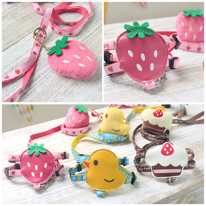Newest Design S,M,L Size Dog Harness with Leash Cute Tricolor Ribbon Pink Yellow Brown Color Teddy Pet Dog Harness Leash for Dog