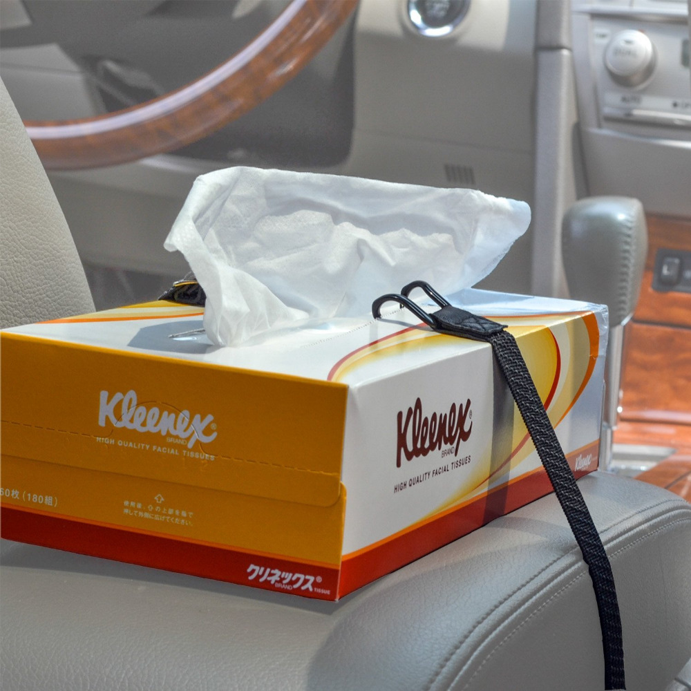 Headrest Strap Holder For Kleenex Facial Tissues And Other Napkin Paper Boxs Humorous Tfy Car Visor Armbands