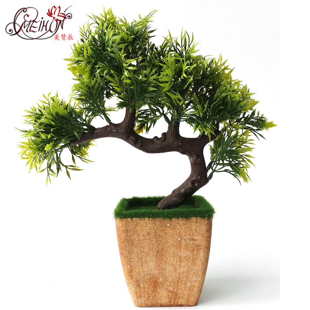 Fake flower decoration small bonsai plants artificial for Artificial plants for decoration