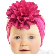Baby Hair Accessories Headband for Girls Solid Lace Flower Band for Baby Hair acessorios Photography Prop Party Gifts