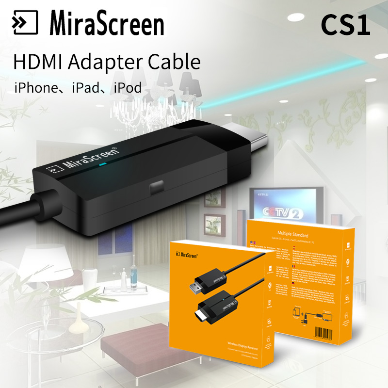MiraScreen Microsoft Wireless Display Adapter HDMI Video HD TV Stick Dongle Receiver Media Streamer For Computer Laptop Phone