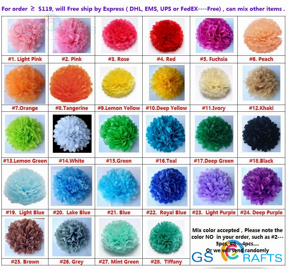 Aliexpress Buy 29 Colors Available Tissue Paper Pom Pom Baby