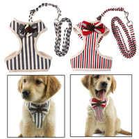 Ajustable pecho mascotas perro chaleco arnés de mascotas collares mascotas a tracción cinturón caminar perro Correa cinturón pajarita traje
