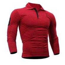 T Shirt Men 2017 Brand Male Long Sleeve Hip Hop Deer Embroidery Printing T-Shirts Mens Casual Slim Tshirt Tee Tops 3XL
