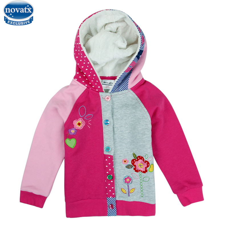 nova Girls clothes jacket child outerwear Hooded coats cartoon baby clothes kids coats children winter jackets
