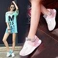 Мода 2016 Новый Сдобы Женщина Повседневная Обувь обувь заклинание цвет толстым дном обувь увеличение в Форрест Гамп Обувь