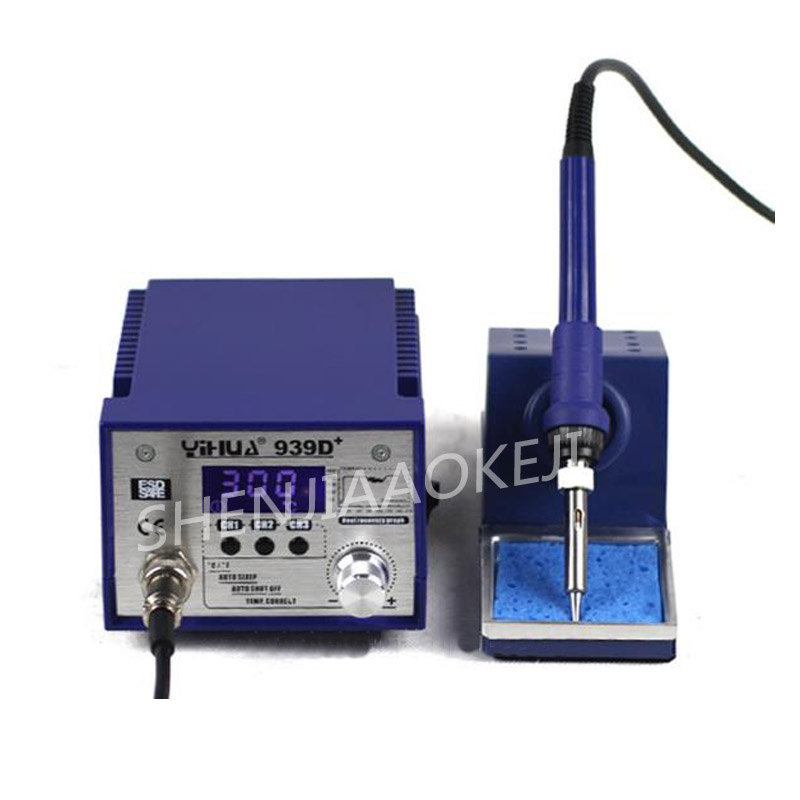 939D+LCD lead-free soldering station High-power electric iron thermostat Three-stage temperature storage 50Hz 75W 1PC939D+LCD lead-free soldering station High-power electric iron thermostat Three-stage temperature storage 50Hz 75W 1PC