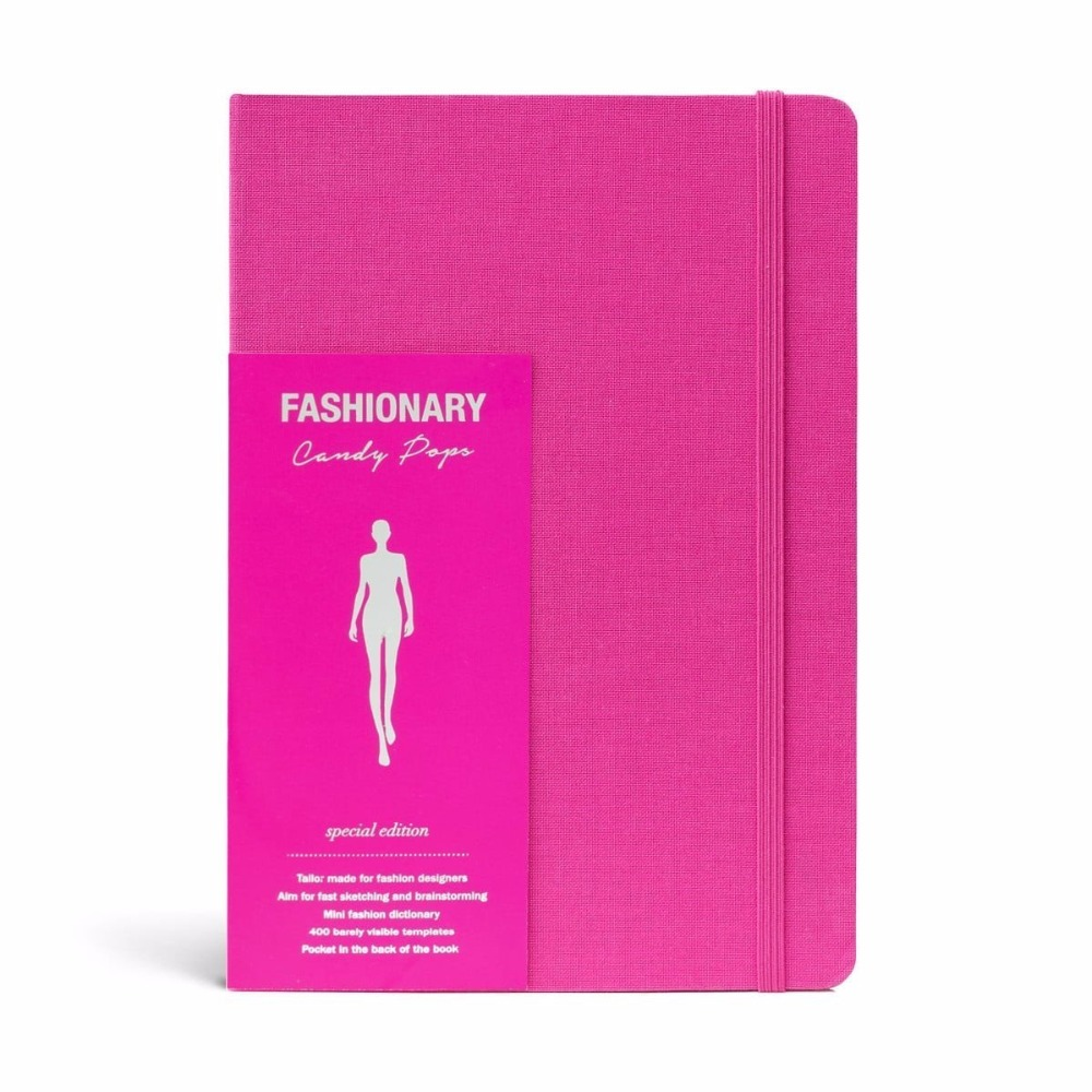 A5 Womens Sketchbook Cherry Notebook with 130 Pages Fashion Figure Templates and Fashion Dictionary Candy Color цена