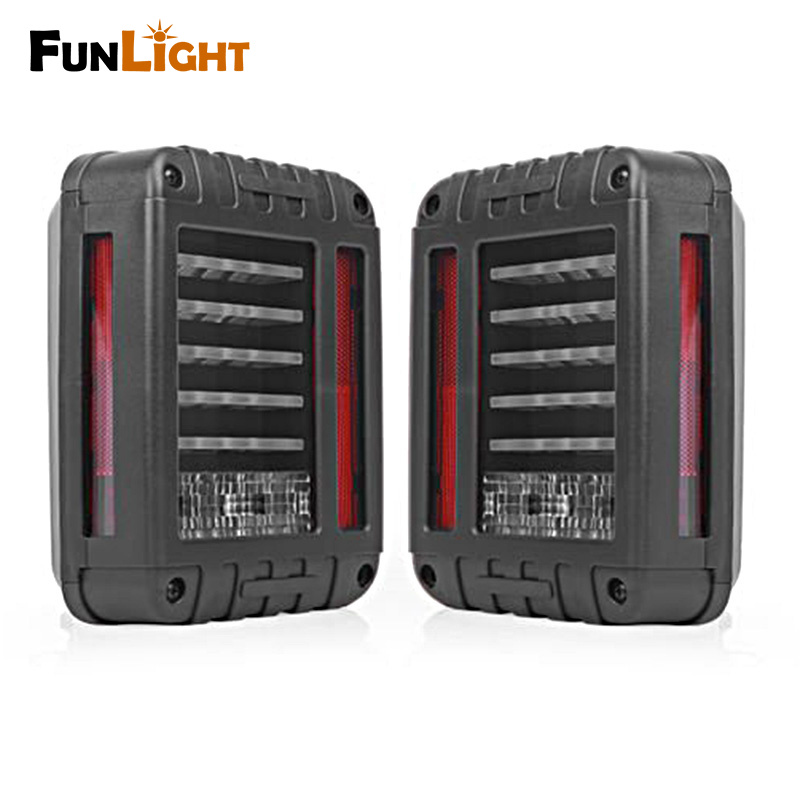 Wrangler LED Reverse Brake Tail Lights With EU / US Standard Plugs For Jeep Wrangler JK 05-16 Tail light Car Light Replacement 6 x 8 flat mount led tail light plug play replacement for jeep wrangler jk