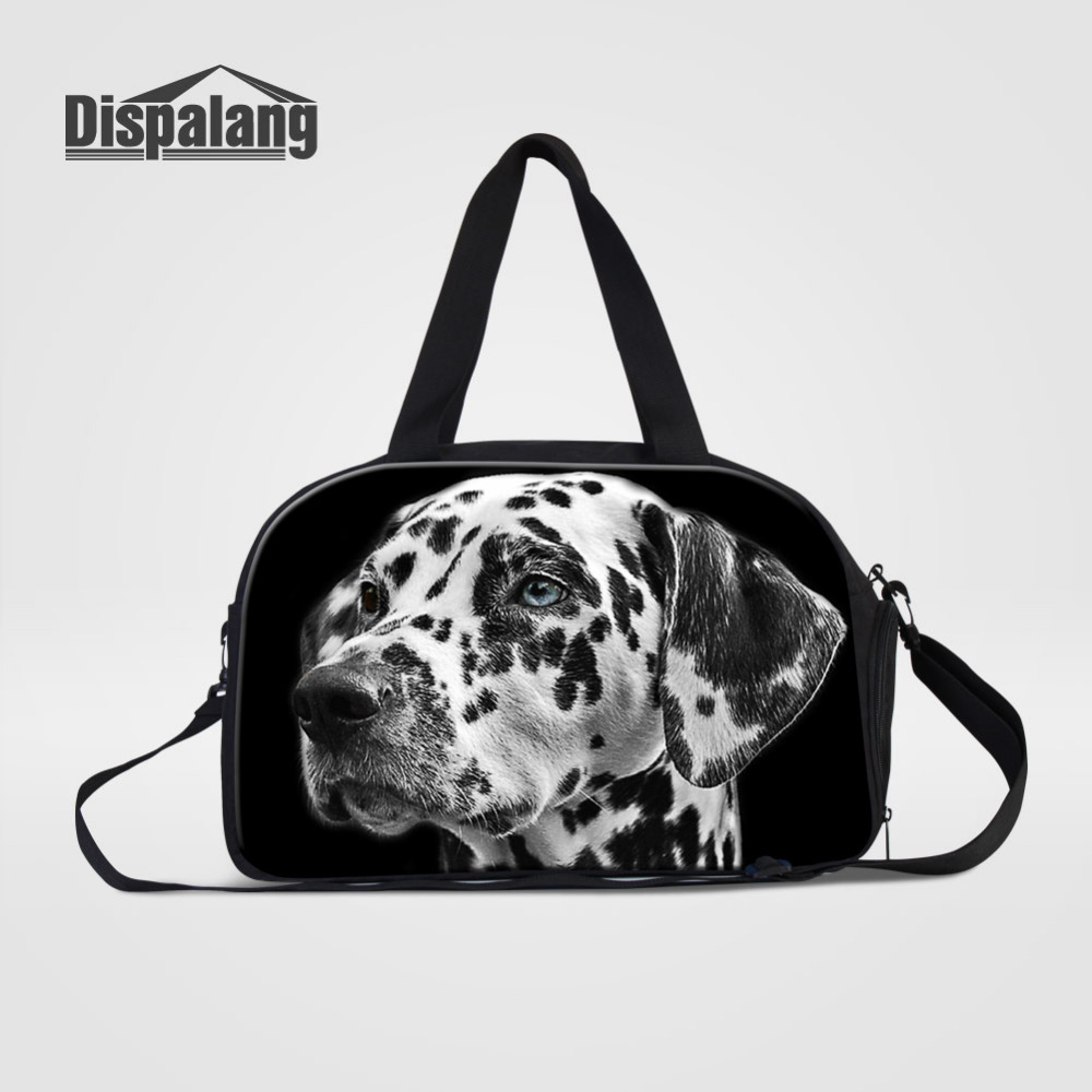 Dispalang Travel Bags Cute Dog Hand Luggage Large Travel Duffle Bags Large Capacity Handbag Multifunctional Business Trip Bags