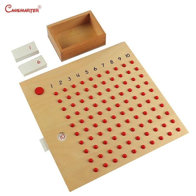 Montessori matériaux mathématiques jouets Multiplication Division jeux de société pour 3-6 ans enfants en bois maths jouets préscolaire MA047-3