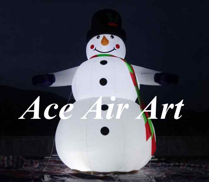 Lovely Giant Outdoor Christmas Inflatable Snowman For Decoration