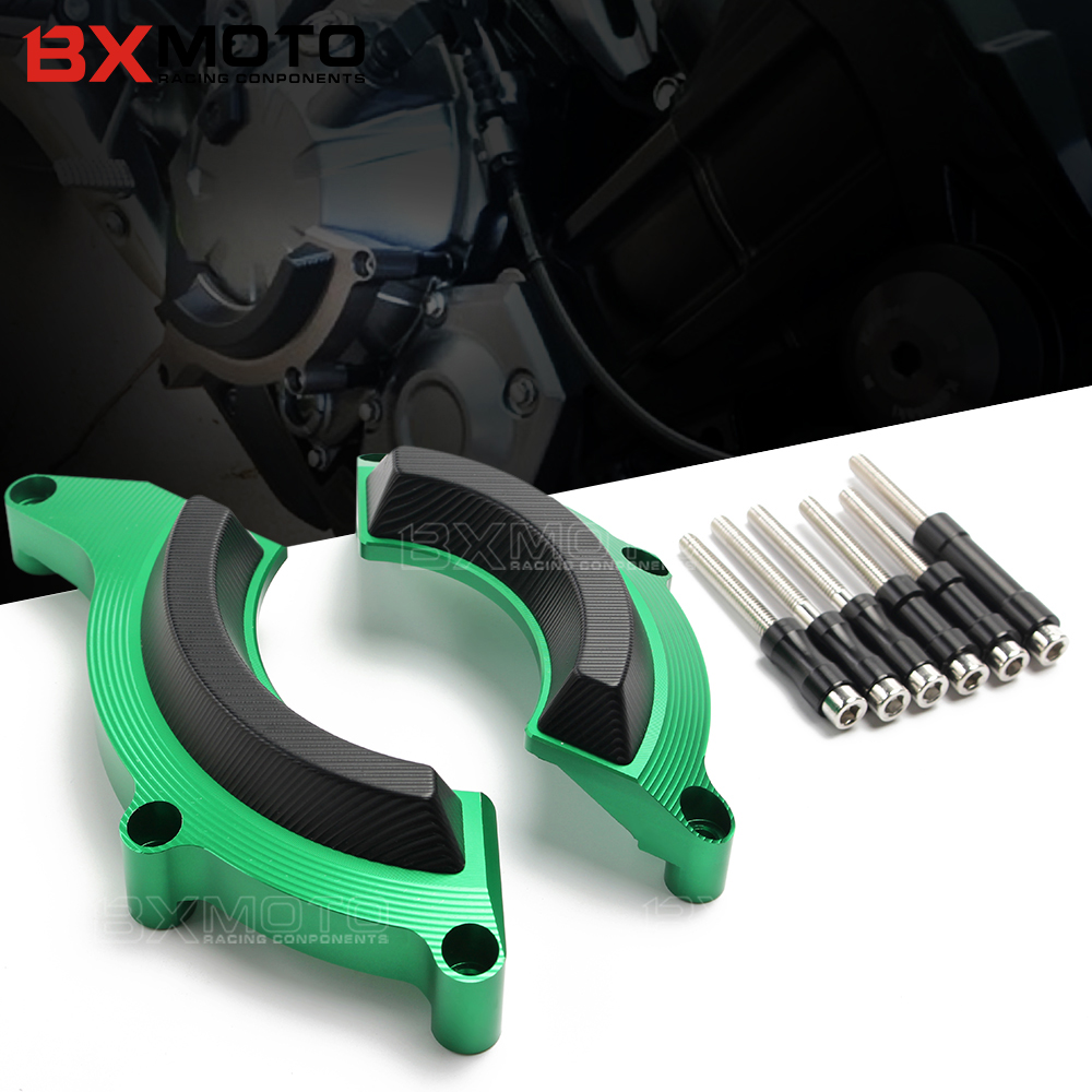 BXMOTO Z900 Engine Guard For Kawasaki Z900 2017 CNC Motorcycle Engine Guard Left Right Engine Cover Crash Protector Pad green бордюр blau versalles mold michelle 3 5x25