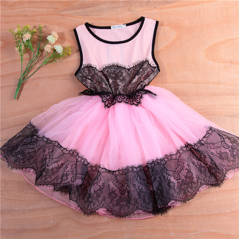 New Summer Christmas Costume Bow Girl Party Dress Wedding Birthday Girls Dresses Tutu Style Princess Clothes for children 3-8T 2017 new girls dresses for party and wedding baby girl princess dress costume vestido children clothing black white 2t 3t 4t 5t