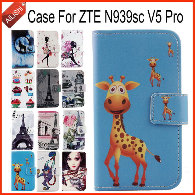 AiLiShi Factory Direct! For ZTE N939sc V5 Pro Case PU Flip Cartoon Leather Case Exclusive 100% Special Phone Cover Skin+Tracking
