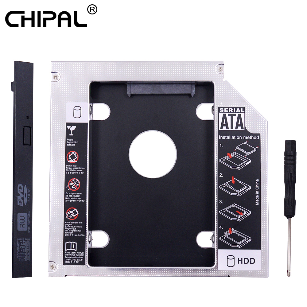 CHIPAL Caddy Notebook CD-ROM Hdd-Case-Enclosure SSD Sata-3.0 PATA To IDE for 2TB Optical-Bay