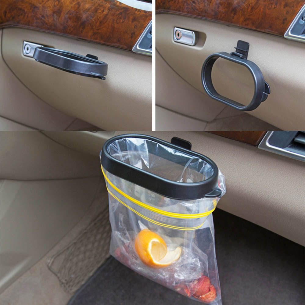 Trash-Can-Frame Organizer Box-Accessories Waste-Bag-Holder Universal Automoboiles Plastic title=