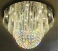 new luxury crystal lighting modern LED crystal chandeliers lustre hotel lobby chandeliers wideth 80cm