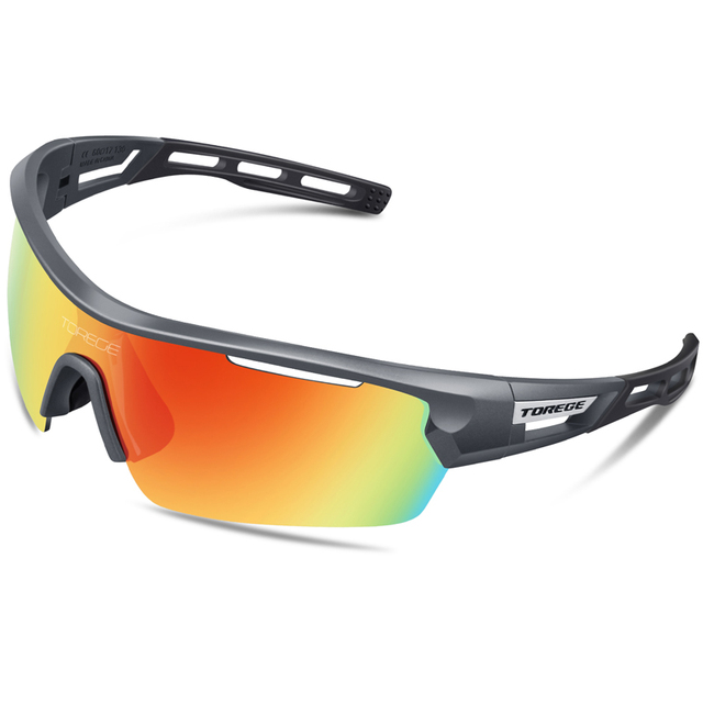 3c850e9776 2018 Polarized Sports Sunglasses With 4 Lenes for Men Women Polarized  Fashion Eyewear 100% UV400 Reduce Glare Running Glasses-in Sunglasses from  Apparel ...