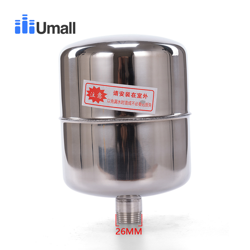 2L Male Thread G3/4 26MM Stainless Steel Towerless Automatic Water Supply System Double Spring Pump Pressure Control Switch Tank