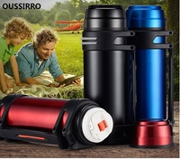 OUSSIRRO Vacuum Flasks Thermoses Insulation Cup large capacity insulation pot thermos outdoor stainless steel car travel pot