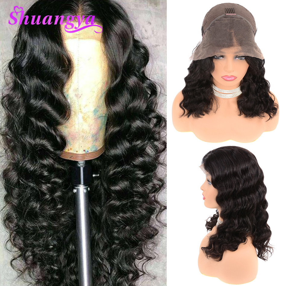 Lace Front Human Hair Wigs Remy Loose Deep Wave Lace Wigs Pre Plucked With Baby Hair