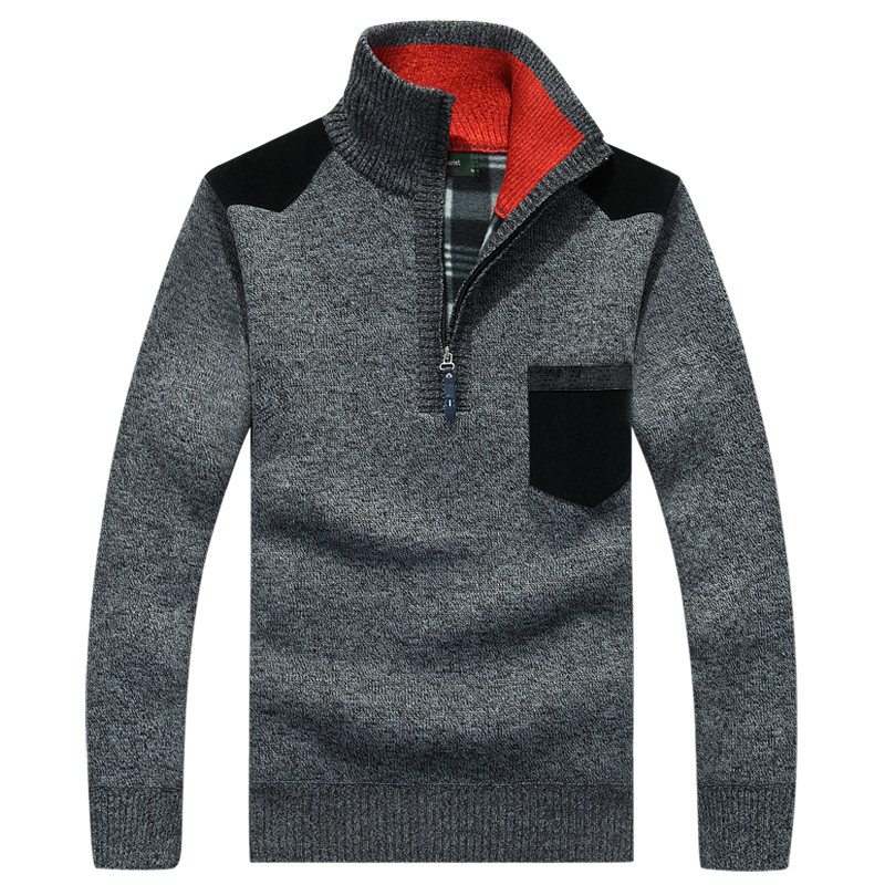 Image 3 - AFS JEEP mens sweaters 2018  brand pullover men half zipper casual knitwear winter sweater turtleneck men clothing christmas men-in Pullovers from Men's Clothing