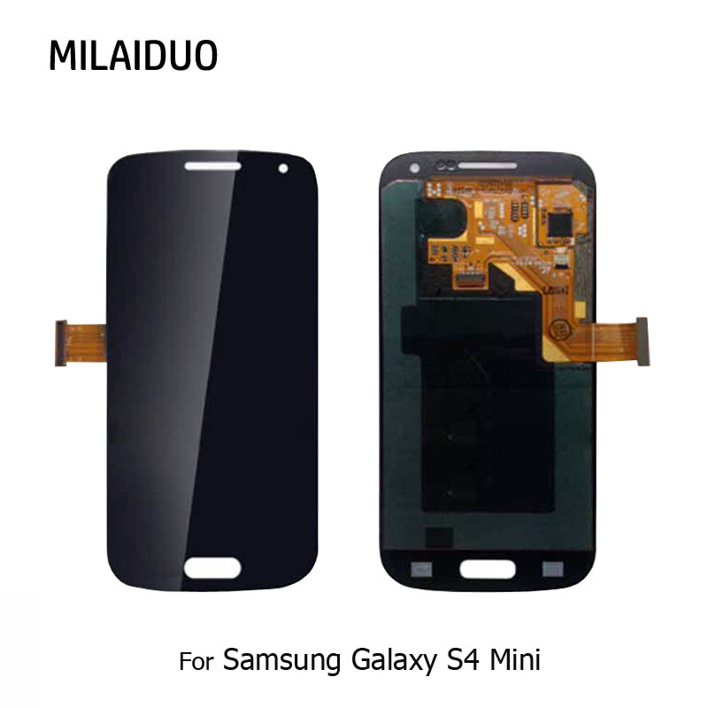 AMOLED <font><b>LCD</b></font> For <font><b>Samsung</b></font> <font><b>Galaxy</b></font> <font><b>S4</b></font> <font><b>Mini</b></font> <font><b>I9190</b></font> I9192 I9195 <font><b>LCD</b></font> Display Touch <font><b>Screen</b></font> Digitizer Assembly Replacement Black White image