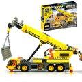 2016 Nueva KAZI City Crane Building Blocks 380 unids de BRICOLAJE Construcción de Ladrillos de Juguete de Navidad Regalos Compatible Legoe Ciudad técnica