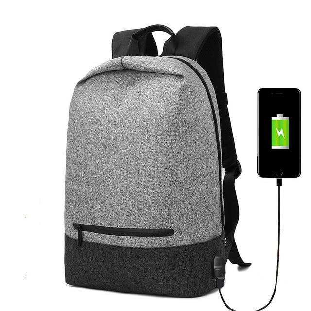 88125512f393 Urban Backpack Men USB Charge Laptop Backpack Minimalist Fashion Anti-theft  Backpack Casual Mochila Waterproof
