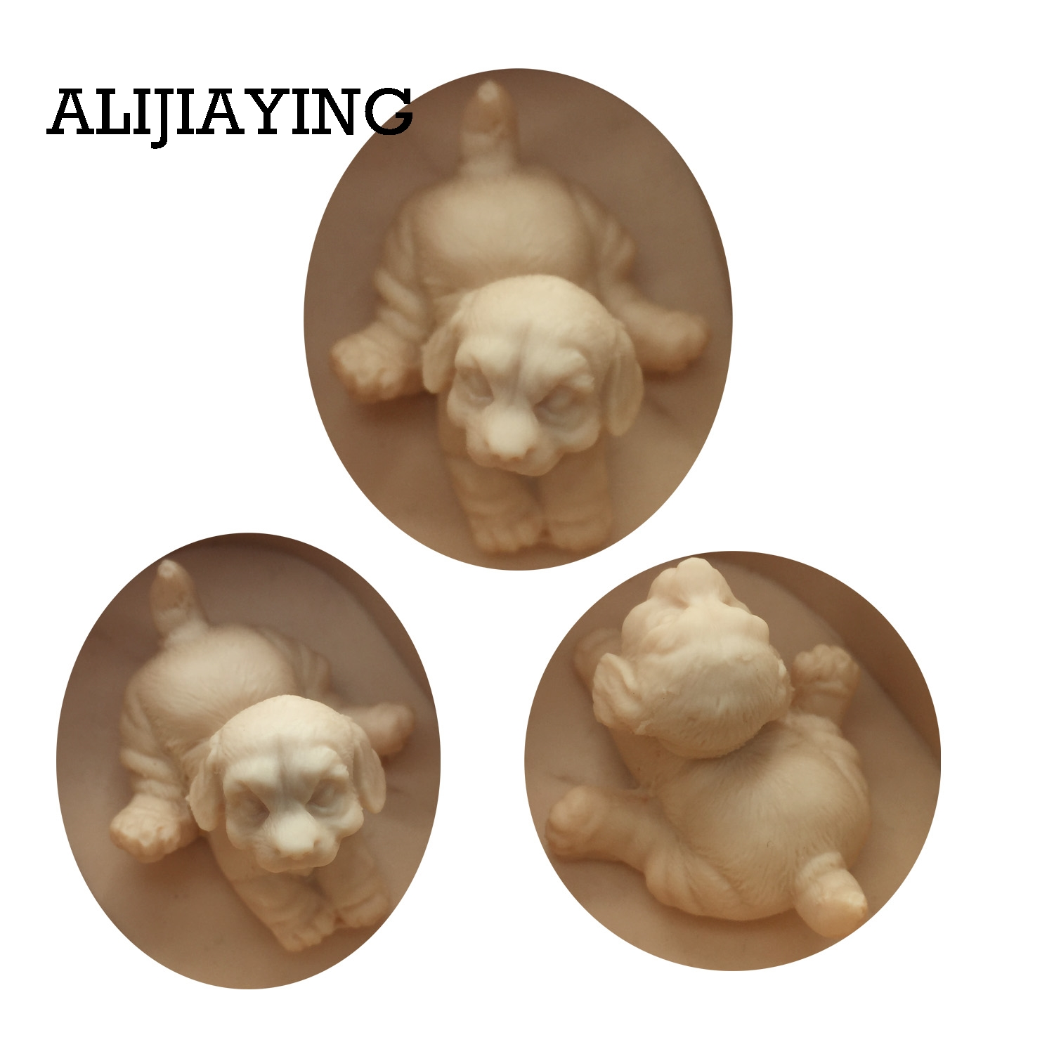 DY0018 3D dog Mold Handmade Craft Mould Plaster silicone molds Fondant Chocolate Moulds Resin Clay Soap candle Mold