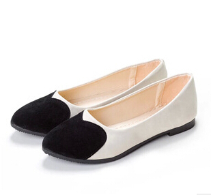 PLUS SIZE SUMMER STYLE Fashion New Womens Flats Shoes 2015 Hot Ladies Ballerina Women Flat Shoe Adult Shoes comfort flats 2017 spring summer new pointed flat flock bow women s shoes work shoes ballerina flats plus size 34 41