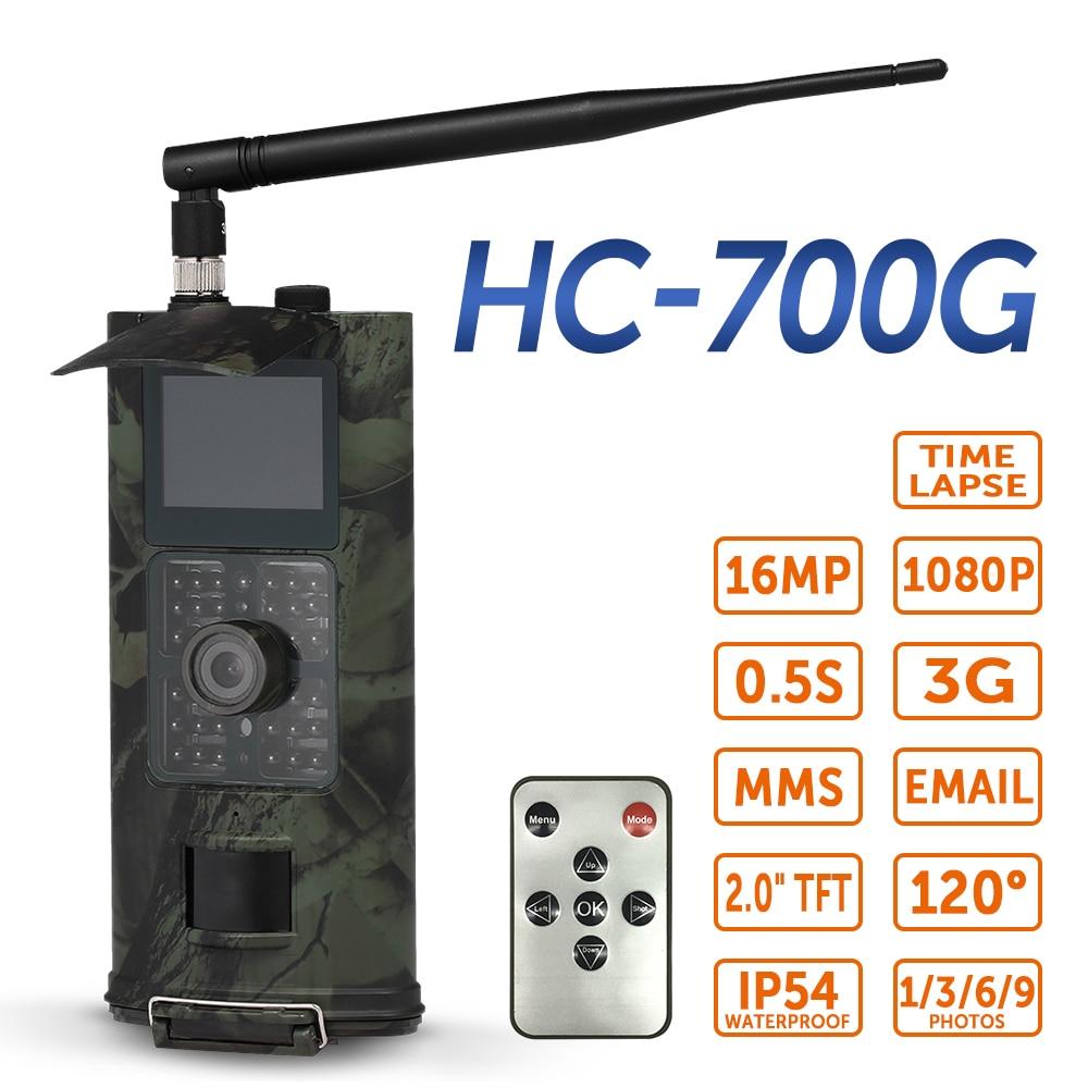 SUNTEKCAM HC700G caméra de piste de chasse 3G SMS GSM 16MP 1080p Vision nocturne infrarouge faune chasse caméra de piste de repérage des animaux