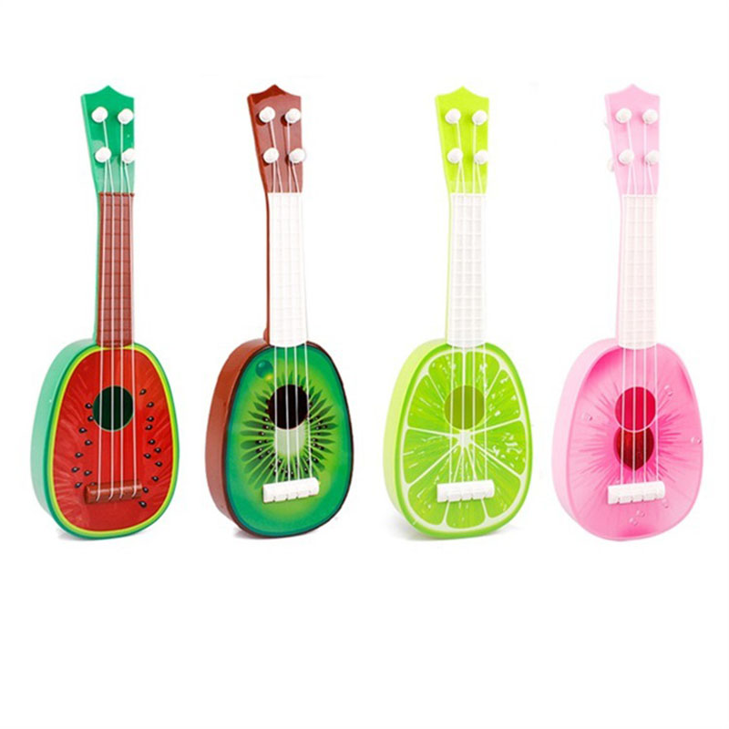 Educational Musical Instrument Kids Funny Toy Fruit Guitar Ukulele Guitar Can Play Kids Creative 4 Styles Children Cute Gifts