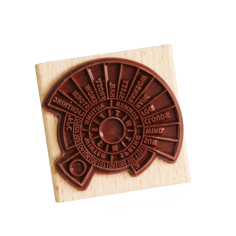 Aliexpress.com : Buy Wooden stamps Weather Temperature ...