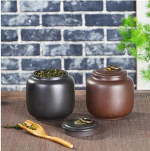 promotion yixing purple clay anxi tieguanyin tea storage chests big sealed manual oolong tea tins T238(China)
