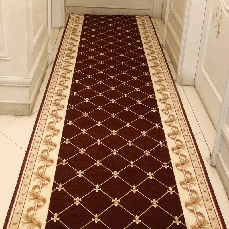 Europe Hotel Carpet Home Decoration Corridor Entrance/Hallway Doormat Anti-Slip Stairs Carpet Living Room Bedroom Rug Wedding