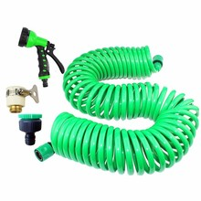 hot deal buy 25m/15m/10m spring tube irrigation kit plants garden watering system garden hose kits connector retractable no knot 8 function