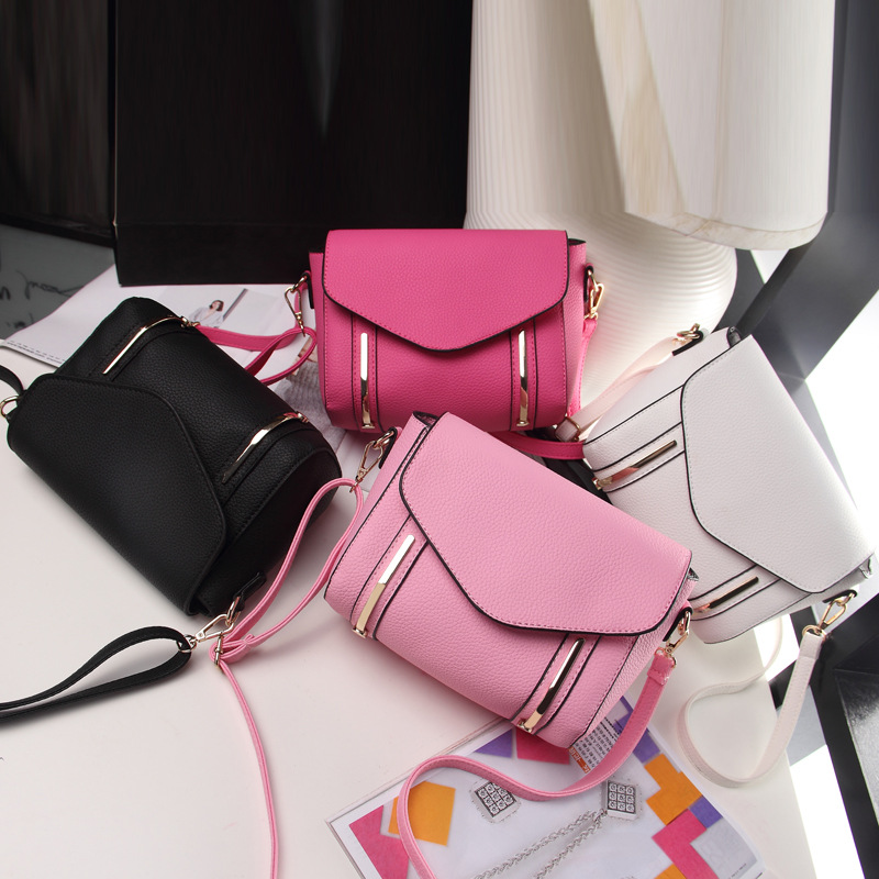 Light metal strip handbags 2016 new 4 color PU leather shoulder bag women  messenger bags free shipping-in Shoulder Bags from Luggage   Bags on ... 7a72eb04cc582
