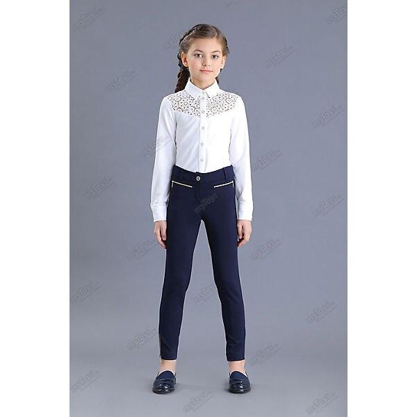 Malenkaya Lady Pants & Capris 11685744 trousers Blue slacks childrens pants school uniform Girls Pencil Pants girls contrast tape pants