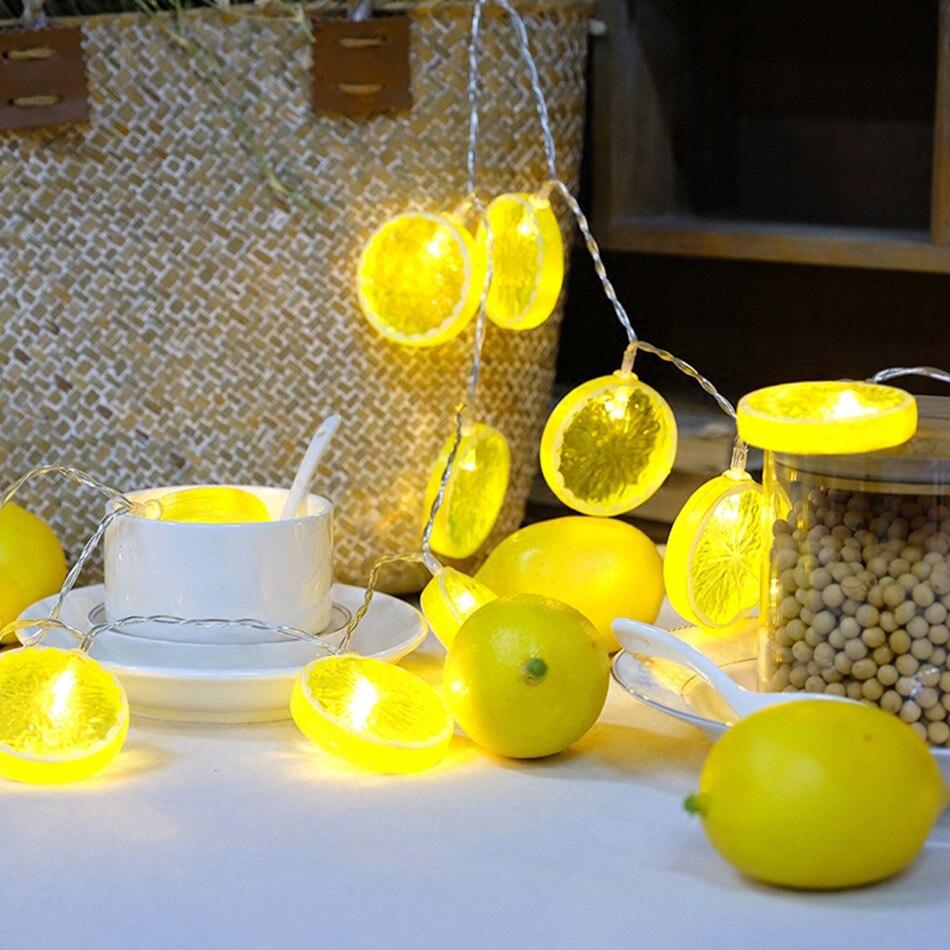 Beau fruit Citron led guirlande lumineuse 6 M 40 Leds Halloween