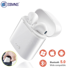 ESVNE I7s TWS Wireless Bluetooth Earphone Stereo Earbud Headset With  Charging Box Mic All Bluetooth tablet 6a146ae4a1b54