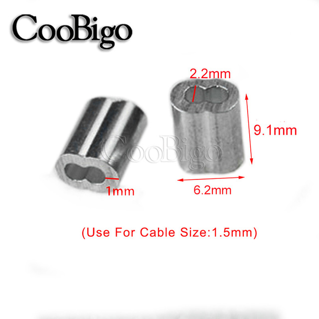 Wire Crimp Fittings   50pcs Pack 1 16 1 5mm Aluminum Cable Crimps Sleeves Clip Fittings