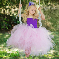 Mullido lindo Tutú de Las Muchachas de Flor Del Vestido de Bola Vestido de Fiesta Vestido De fiesta por la Noche Fiesta de Cumpleaños de La Boda de Tela PT171