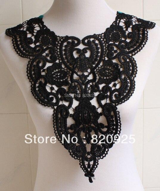 1 x hermosa tela negra flor Venise encaje costura apliques DIY artesanía bolsos de Ropa Accesorios