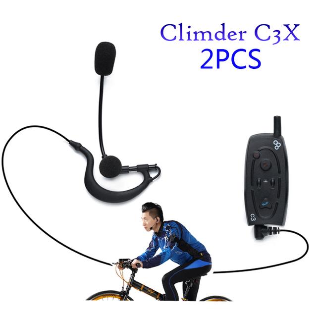 Frete Grátis!! Nova Chegada 2 pcs X Bluetooth Interfone Climder C3X para Bicicleta/Bicicleta/Caminhada/aventura/Áudio Do Telefone/GPS Dispositivos