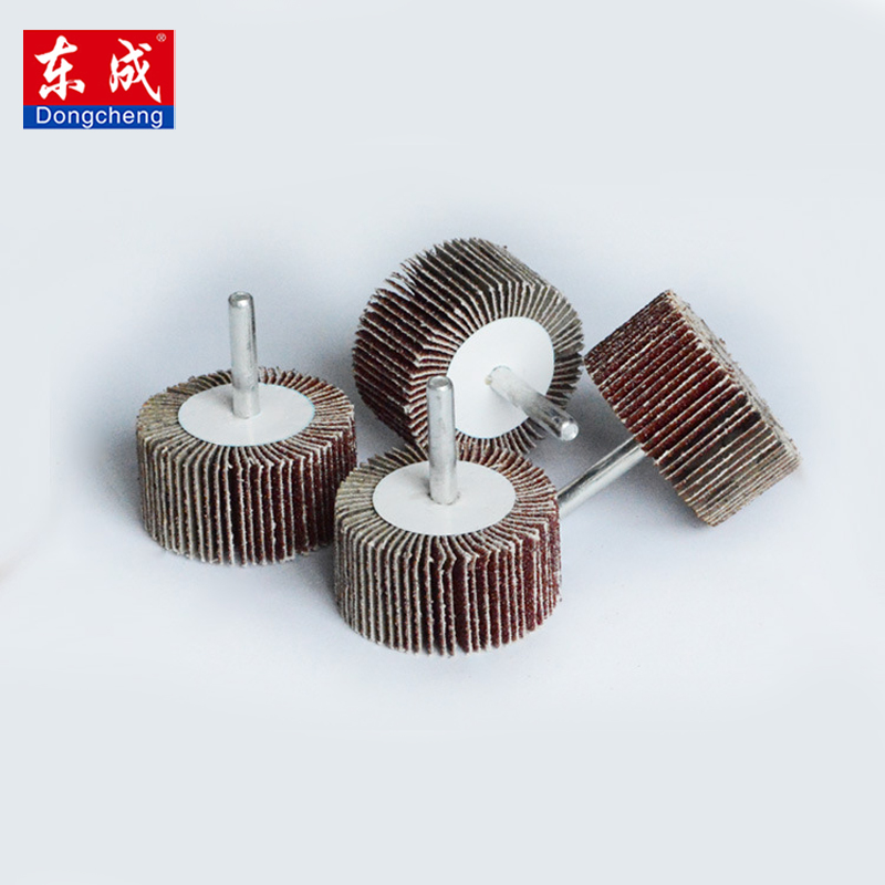 1Pcs P80# Blinds Daibing Impeller Grinding Sandpaper Flap Wheel Head 6mm Shank Mandrel For Rotary Mini Drill Polish Tool