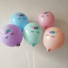 Unicorn balloons 50pcs/lot 10inch candy color latex macaron ballon birthday theme kids balloon decoration boy girl babyshower