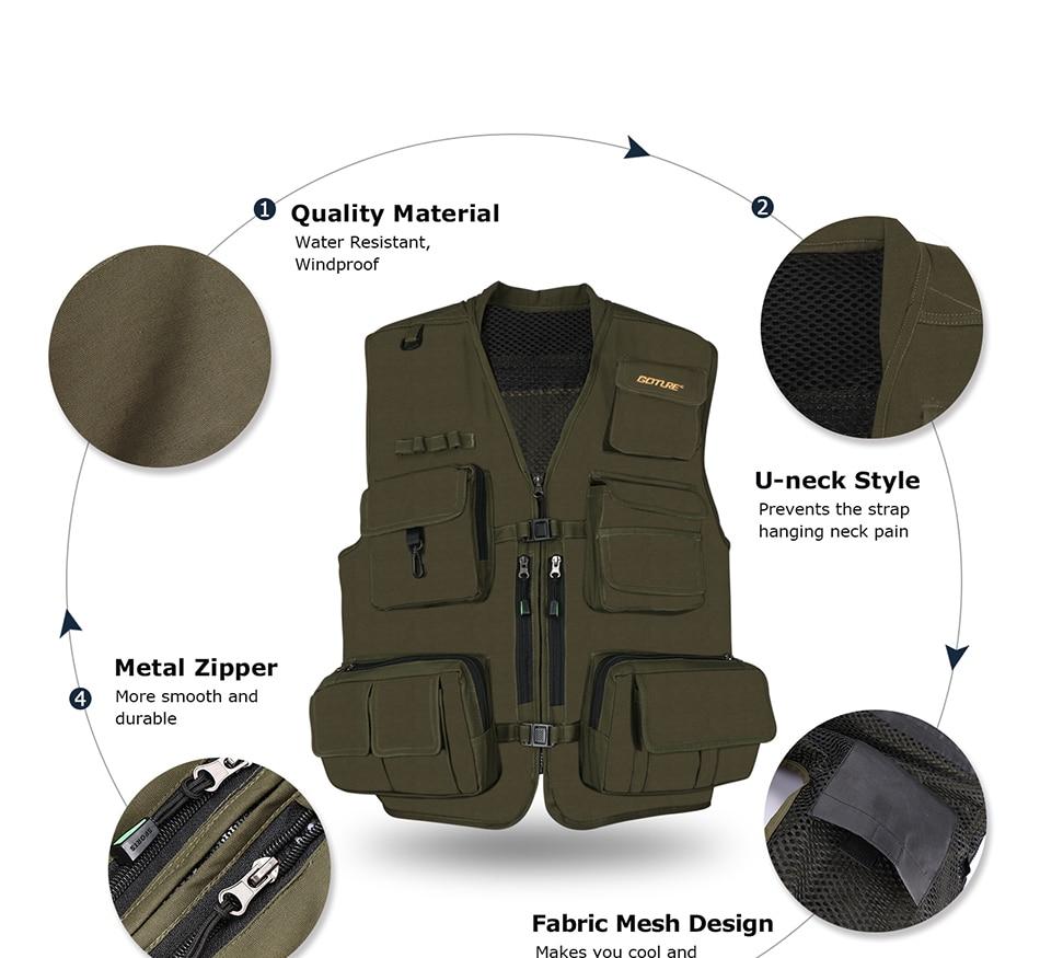 Jaquetas Colete de Segurança Colete Com Bolsos